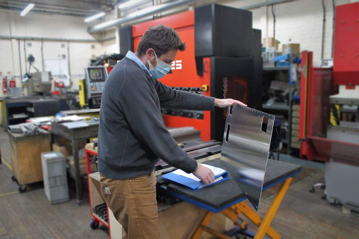 Stuart hands on in the factory working to a customers requirement - 1-year milestone today