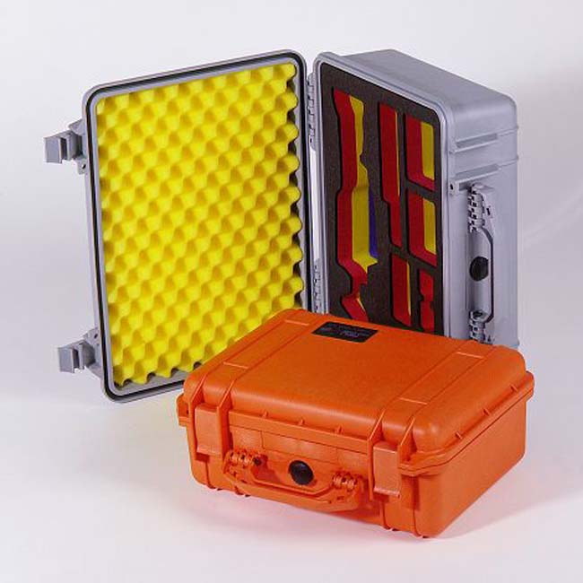 PeliCase with coloured foam packx650