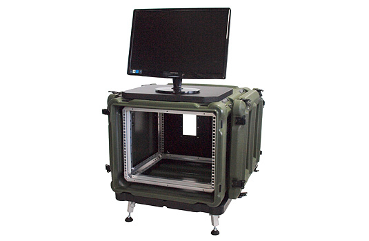 "Rotomolded 19"" Rack Mount Case - Amazon w/ Monitor"