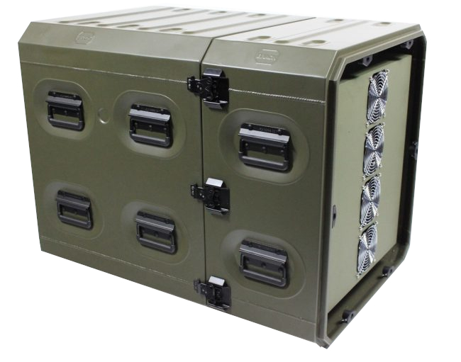 "Air Conditioned 19"" Rack Mount Transit Case - ERack"